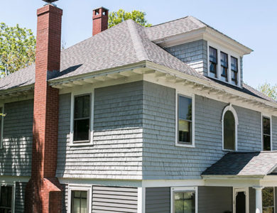 photo of a roof replaced in Worcester Ma by roofing contractor Northeast Home & Energy