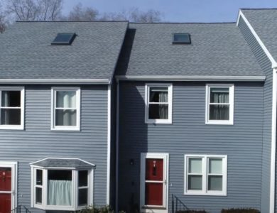 condominium roof replacement in Worcester Ma by commercial roofing contractor Northeast Home & Energy